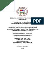 DISEÑO E INSTALACIÓN DE UN SISTEMA DE BOMBEO MEDIANTE ARIETE HIDRÁULICO EN LA COMUNIDAD DE AIRÓN CEBADAS