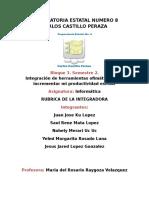 Rubric a de IntegraDora