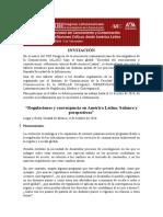 Invitación a presentar trabajos sobre regulación de la convergencia en el XIII Congreso de ALAIC