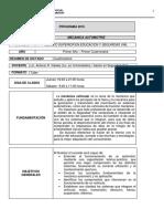 Mecánica Automotriz - Programa