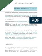 Manual Do Usuário Prestashop 1