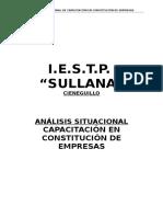 Analisis Situacional Capacitacion Constitucion Empresas