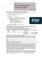 MSDS Ac Sulfurico