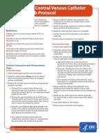 Hemodialysis Central Venous Catheter STH Protocol
