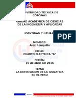 Idolatria Del Peru