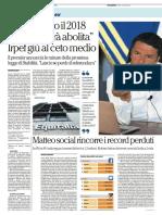 La Repubblica - Matteo social rincorre