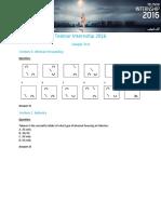 Telenor Internship Sample test