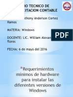 Requerimiento Para Instalar Windows