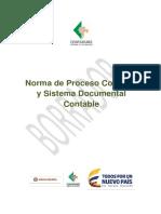 Proyecto Norma Proceso Contable y Sitema Documental