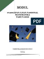 Modul Persiapan UN Matematika SMP 2013