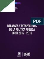 Balances y Perspectivas de La Pplgbti 2012-2015
