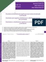 Alcoolismo e Interferências Cognitivas Nos Processos de Atenção