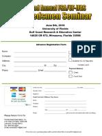 32nd Florida Seed Association Seed Seminar 2016 Registration Form