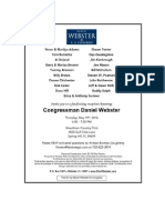 Congressman Daniel Webster Fundraiser