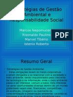 Estratégias de Gestão Ambiental e Responsabilidade Social
