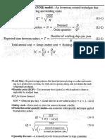Inventory Formulas