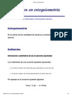 Cálculos en Estequiometría