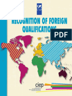 Booklet Recognition of Foreign Qualifications de france