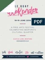 Castle Quay Weekender programme 2016