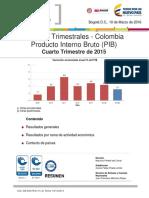 Boletín Técnico PIB Oferta IV-2015