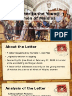 A Letter to the Young Women of Malolos