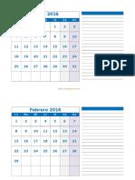 calendario mensual 3