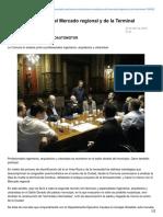 Diario El Día - La Plata - Evalúan Mudanzas Del Mercado Regional y de La Terminal. Arq. Ludovico Grioni