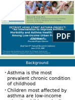Detroit Head Start Project- An Intervention to Improve Asthma Morbidity