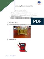 Informe N 4 Trasformadores y Autotransformadores