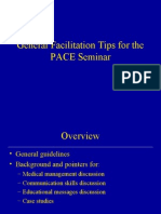 General Facilitation Tips for the PACE Seminar