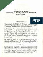 LA CASA DE DON CALECHO UN EJEMPLO DE LA ARQUITECTURA VERNACULA EN HONDURAS.pdf