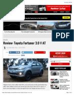 31 July 2015 Review - Toyota Fortuner 3.0 v At