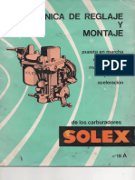 Tecnica de Reglaje y Montaje de Los Carburadores Solex