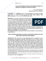 Grupo 1 - Universalizacao Dos Servicos de Saneamento Basico e Desenvolvimento Populacional