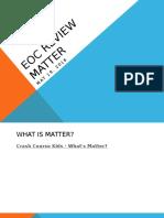 eoc - matter  blog