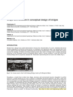 Shape and Structure in Conceptual Design of Bridges