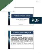 PROGRAMACIÓN LINEAL LD - Ejercicios Formulados