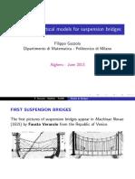 New Mathematical Models for Suspension Bridges - Gazzola (Alghero, 2013)