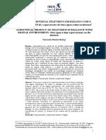 PRODUTO AUDIOVISUAL TELEVISIVO EM DIÁLOGO COM O AMBIENTE DIGITAL