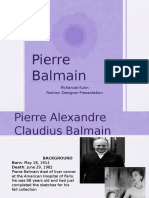 pierre balmain - fashion designer presentation