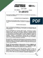 Resolucion No. 001049 Del 11 de Abril de 2013