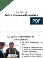 14 Apoyo Continuo a Las Madres.