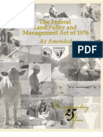 Fed Land Policy and Mgmt Act 1976 With Corridor