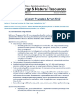 The Clean Energy Standard Act of 2012 - Section by Section
