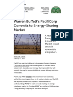 Warren Buffett's PacifiCorp Commits to Energy-Sharing Market _ Greentech Media