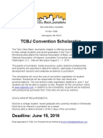TCBJ Convention Scholarship 2016