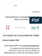 Variacionismo y Etnografía Del Habla