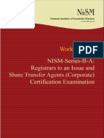 NISM Series II a RTA Corporate Certification Examination August 2015