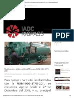 Modificación a La Norma Oficial Mexicana NOM-020-STPS-2011 - Felco Energy Solutions
