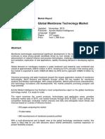 Global Membrane Technology Market